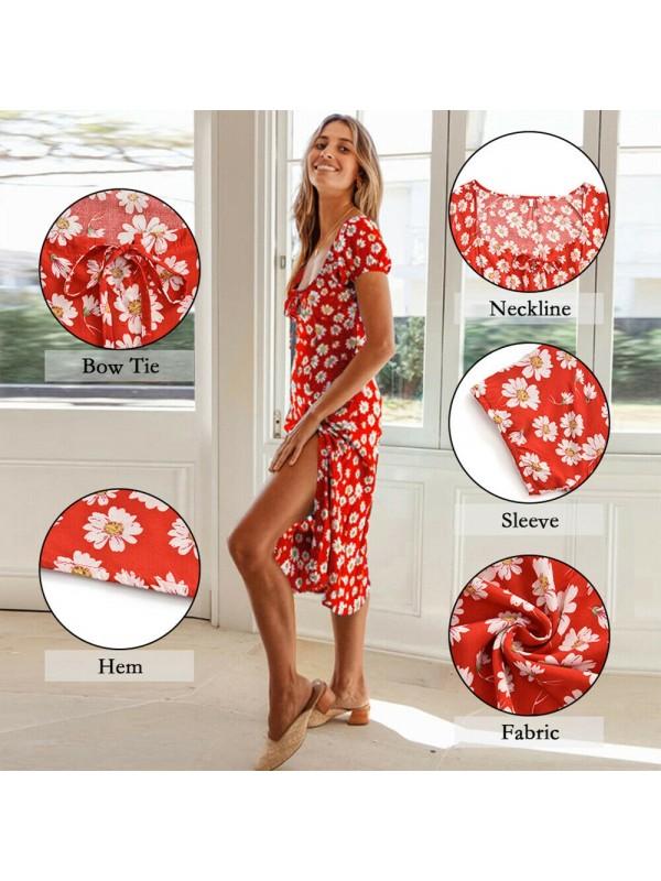 Women'sCasual Flower Print Dress