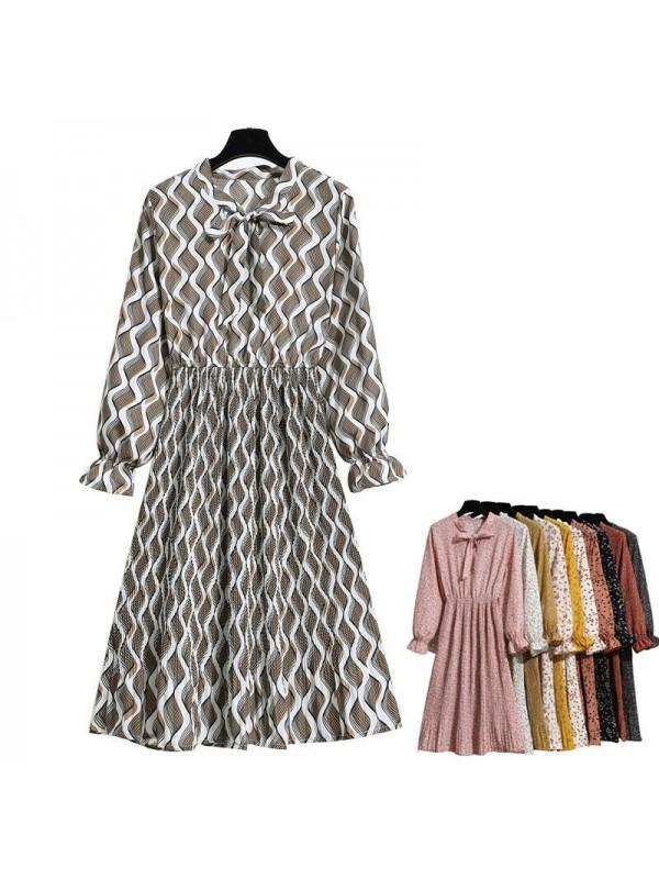 Long-sleeved Floral Dress