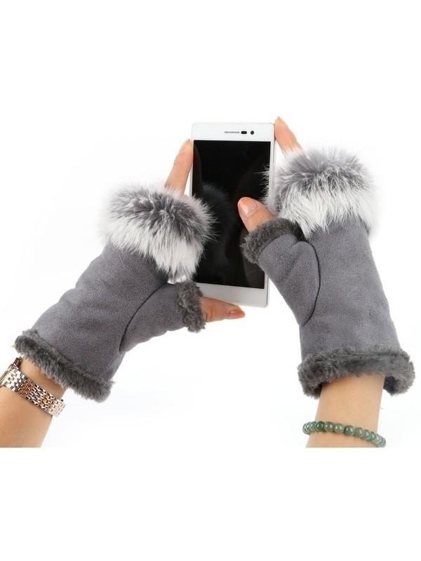 Winter Half-finger Warm Gloves