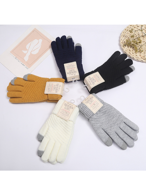 Fashion Knitted Women Men Winter Keep Warm Touch Screen Gloves