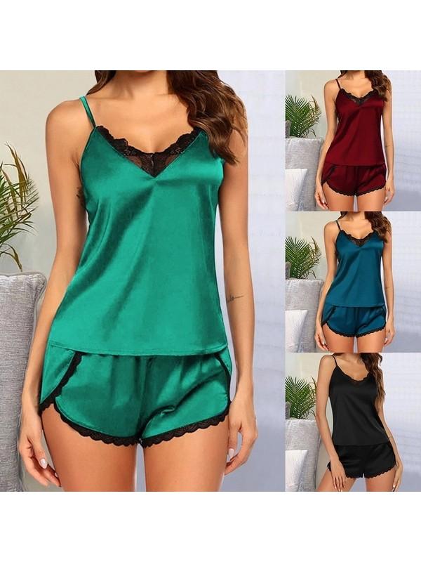 Satin Sexy Pajamas For Women Nightwear