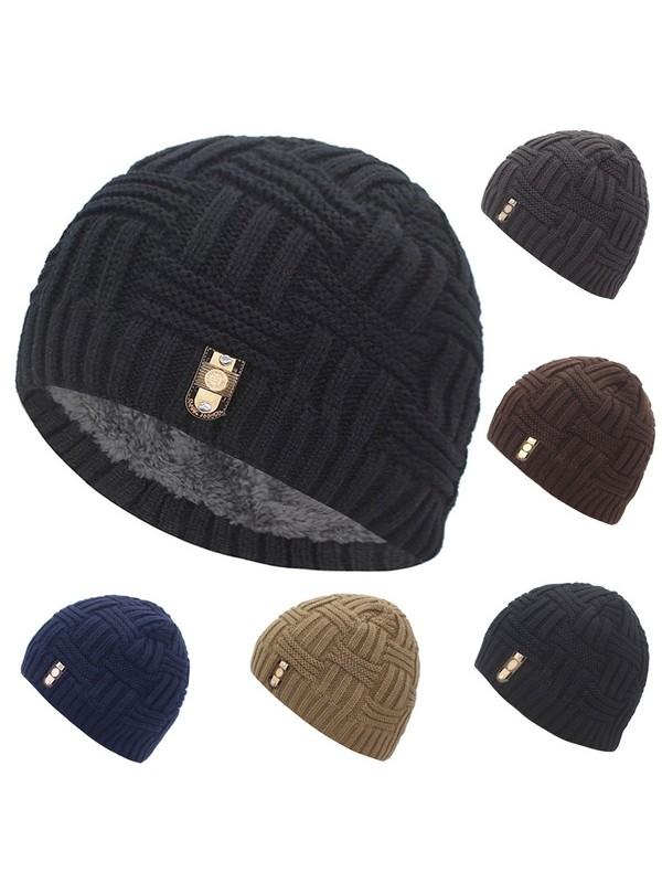 Men Knitted Jacquard Hat