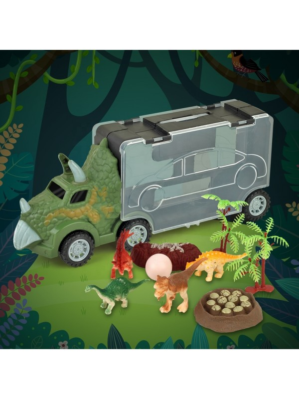 Dinosaur Transport Car Play Toy Set