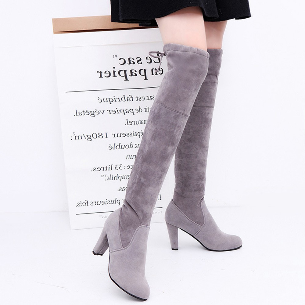 Women Over The Knee Boots High Heel Shoes