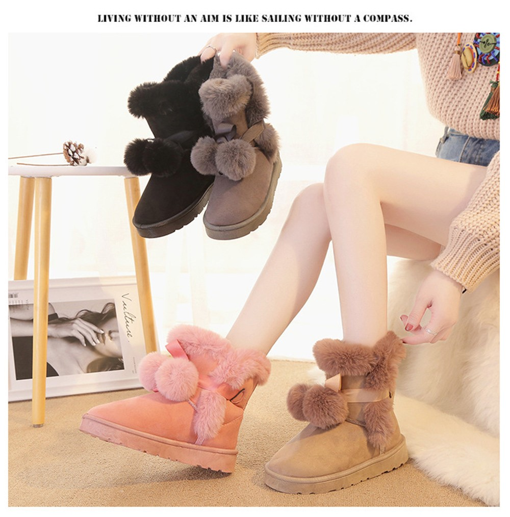 Women Warm Winter Suede Snow Boots