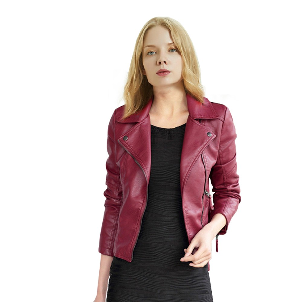 Women Slim Motorcycle Jacket Coats