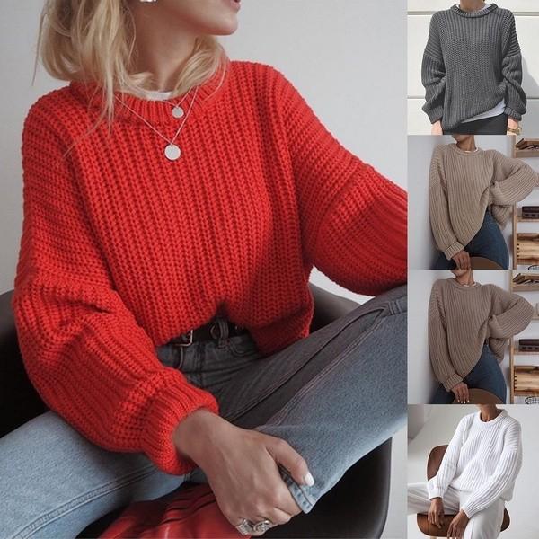 Women's Round Neck Pullover Sweater